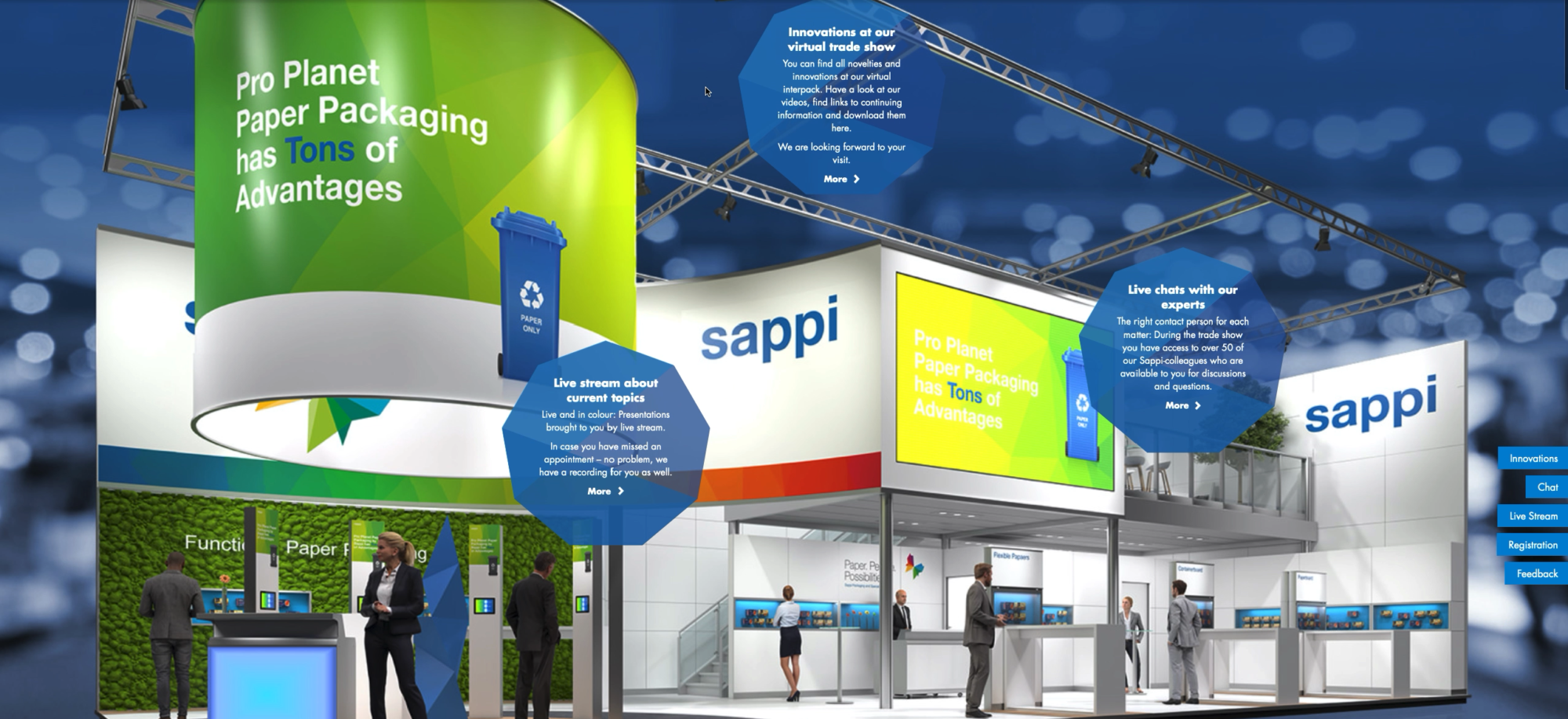 Digitale Marketing- und Vertriebsplattform Sappi